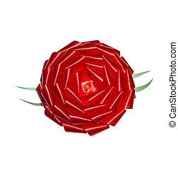 Red rosette gift bow