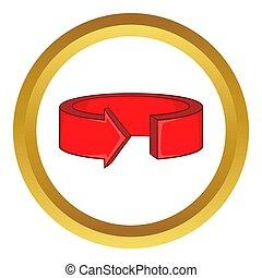 Red round arrow icon