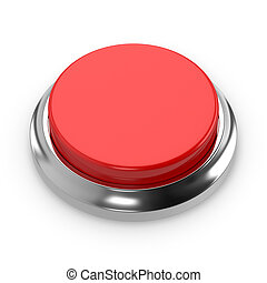 Red round blank button