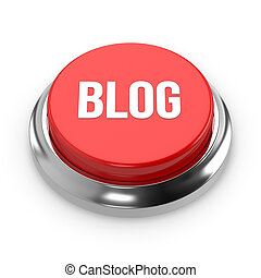 Red round blog button