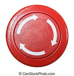 Red round button