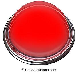 Red Round Button Light Catch Attention Advertise Message Alert