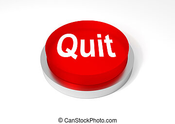 red round button quit - big red physical button quit on...