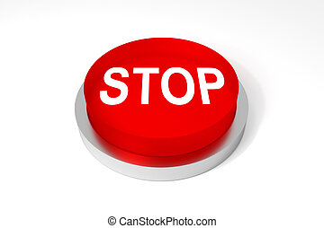 red round button stop