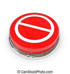 Red round button with not allowed sign.