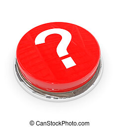 Red round button with white question mark.