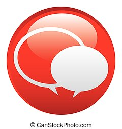 red round chat bubbles emblem icon