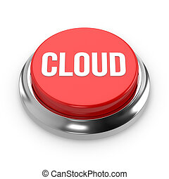 Red round cloud button