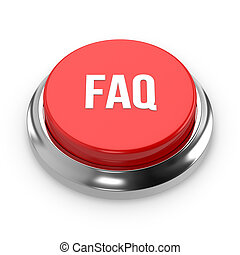 Red round faq button