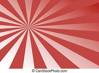 Red round flare