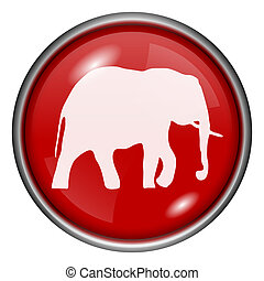 Red round glossy icon