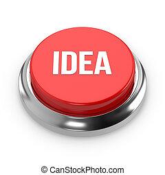 Red round idea button
