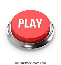 Red round play button