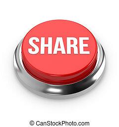 Red round share button