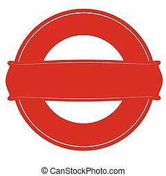 Red round stamp