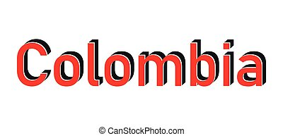 Red round stamp made in Colombia. Vector