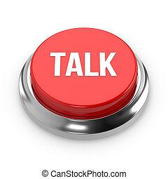 Red round talk button