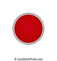 Red round vector button
