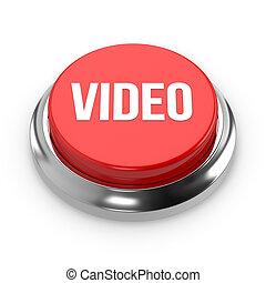 Red round video button