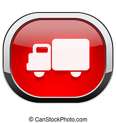 Red rounded square button - cargo