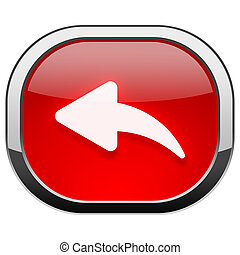 Red rounded square button - Reply