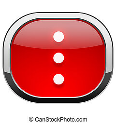Red rounded square button - Three dots vertical