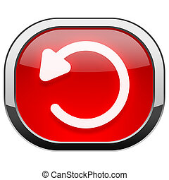 Red rounded square button - Undo