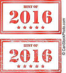 Red rubber stamp Best of 2016. Icon clearance sale