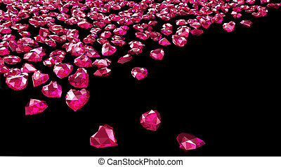 red ruby hearts
