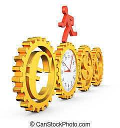 gear clock