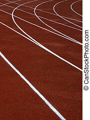 red running tracks - running tracks