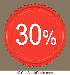Red  Sale 30%  Label