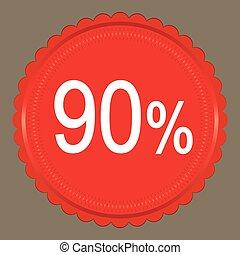 Red Sale 90 percent, Label