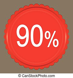 Red Sale 90 percent, Label