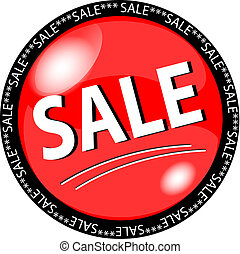 red sale button