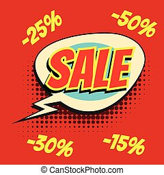red sale comic word