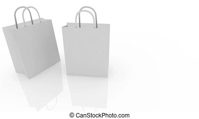 Red Sale Shopping Bag on White Back
