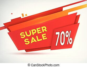 Red Sale Shopping Poster