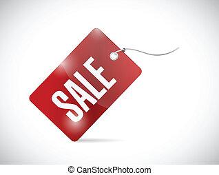 red sale tag illustration design