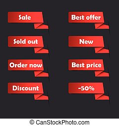 Red sale tags for website