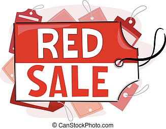 Red Sale Tags Shopping