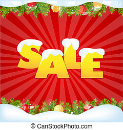 Red Sale Winter Poster