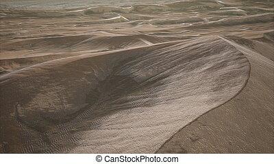 Red Sand Desert Dunes at Sunset