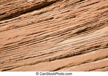 Red Sandstone - Visible rock stratum - red sandstone in...