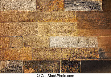 Red sandstone wall background - Image of red sandstone wall....