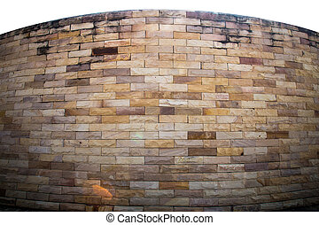 Red sandstone walls