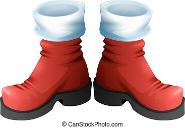 Red Santa boots symbol of accessory Christmas