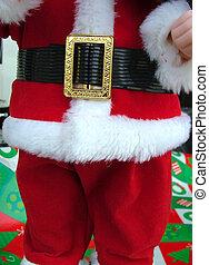 red santa suit