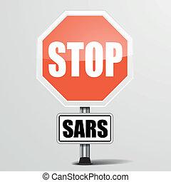 red sars Stop Sign
