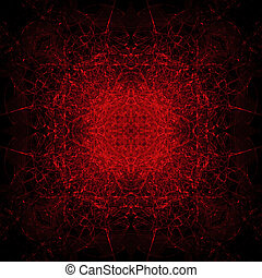 Red Satanic Background Tile - long exposure of extremely red...